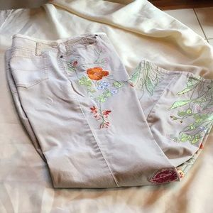 Oriole  Anthropologie embroidered  Pants